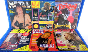 Revista Metal, Rock Hard,top Rock E Heavy 6 Revistas