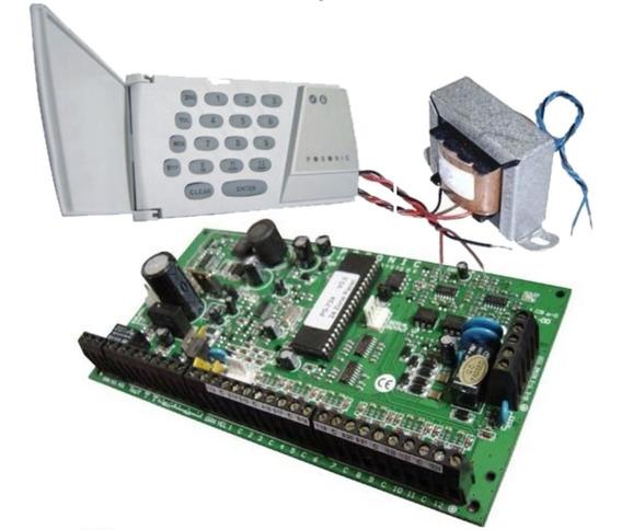 Central De Alarme Posonic Ps100 Kit Placa/teclado/trafo
