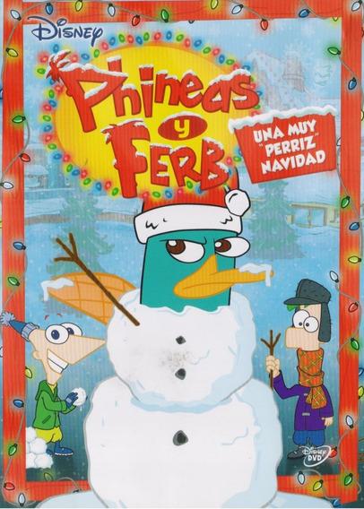 Phineas Y Ferb Una Muy Perriz Navidad Pelicula Dvd