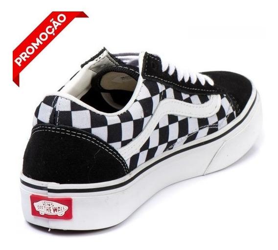Tênis Vans Old Skool Original Xadrez Quadriculado Unissex