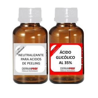 Acido Glicolico 35% Peeling (arrugas, Manchas, Flacidez) Marca Dermaprof