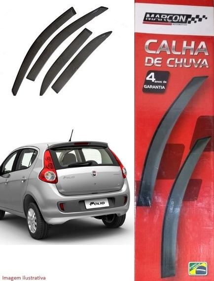 Kit Calha De Chuva Fiat Novo Palio 2011 Acima - 04 Portas