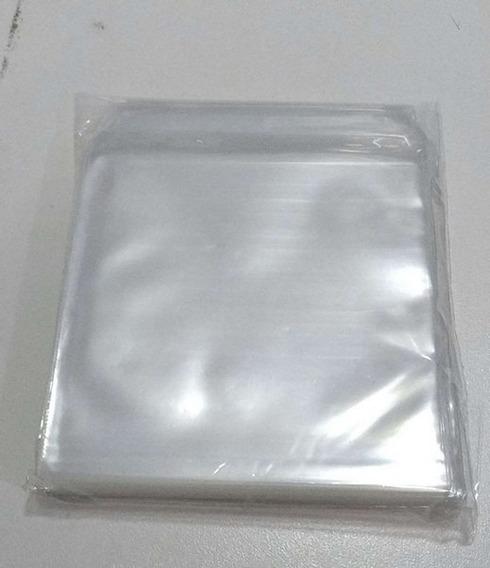 100 Capas Plástico Transparente Para Cd Dvd