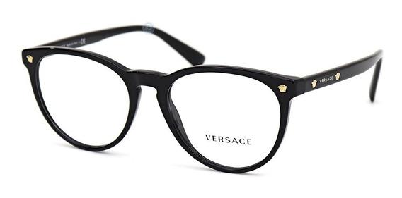Lentes Versace Ve3257 Gb1 Black Oftalmico Mujer Original