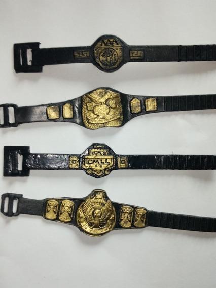 Lote 6 Cinturones Para Muñecos De Lucha Libre Luchadores