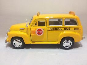 Miniatura Chevrolet Suburban 1950 Escola School Bus 1/36