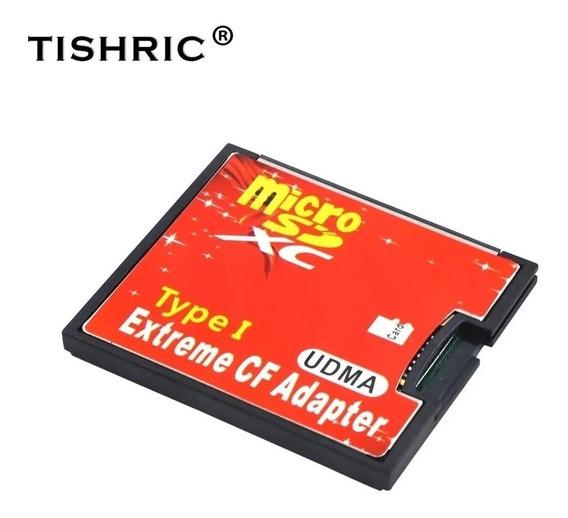 Adaptador / Cartão De Memória Compact Flash Cf X Micro Sd