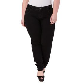 Calça Feminina Jeans Com Elastano Alta Plus Size Crj293
