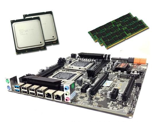 Kit Placa Mae Lga2011 Xeon +2 E5-2680 V2 3.5ghz + 32gb Inte