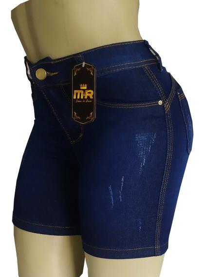 Short Jeans Feminino Cós Alto Hot Pants( Meia Coxa)