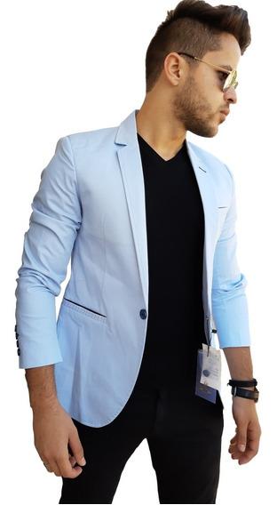 Blazer Masculino Slim Fit Detalhe No Bolso Promoção!!!