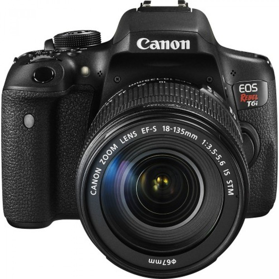 Câmera Canon T6i + Lente 18/55 + Battery Grip + Bateria