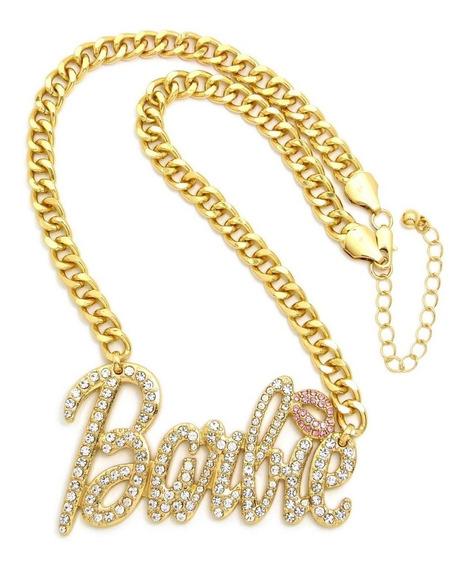 Cadena Con Strass Iced Barbie Hip Hop Trap Importada Grande