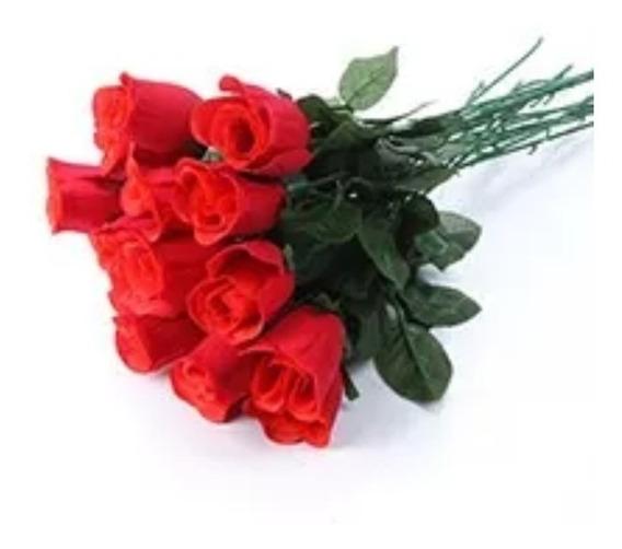 144 Botões De Rosas Flores Artificiais Artificial