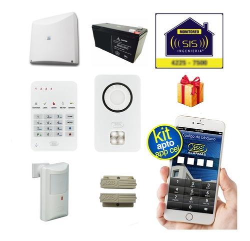 Kit Alarma Domiciliaria Casa X28 Llamador Gsm Comando Via App Celular