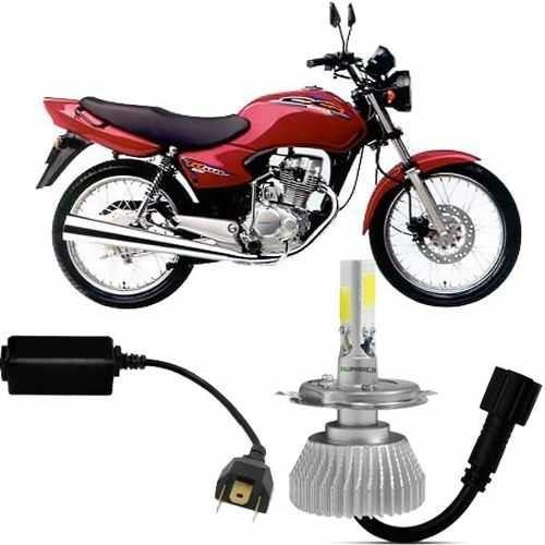 Super Led Moto Honda Cg 125 2001 A 2010 6000k 2d 2200 Lm
