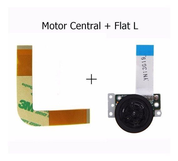 Kit Motor Central + Cabo Flat Modelo L Para Leitor Ps2 Slim