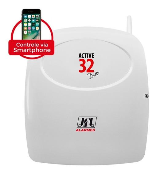 Central P/ Alarme Jfl Active 32 Duo Monitorável 32 Zonas Tf