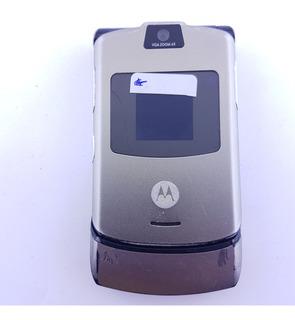 Celular Motorola V3 Prata (funcionando)