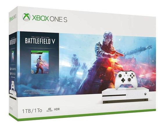 Console Microsoft Xbox One S 1tb + Battlefield V