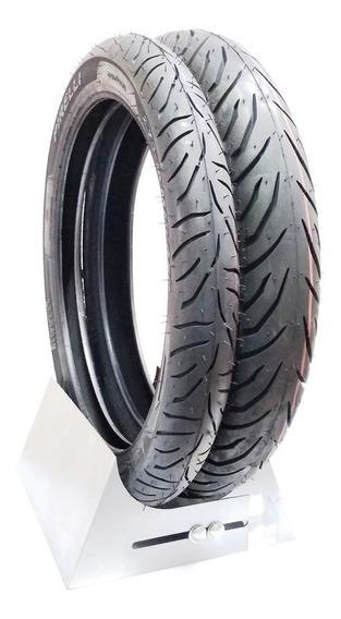 Par Pneu Cg 125 150 160 Sem Câmara Original Pirelli 0656