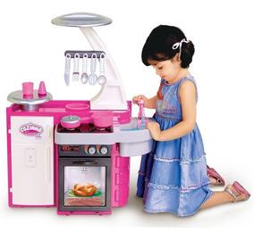 Mini Cozinha Infantil Classic - C/ Geladeira Fogão- Cotiplás