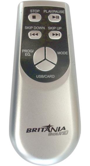 Controle Remoto Micro System Britânia Bs336 Mp3 Usb Original