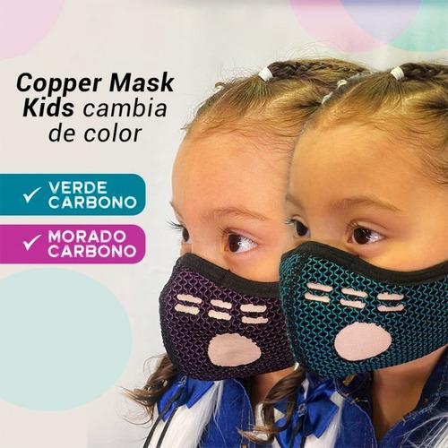 Tapaboca Máscara Reutilizable Para Niños Hilado De Cobre