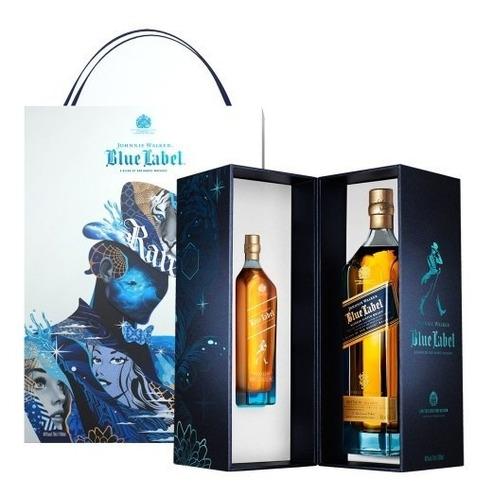 Imagen 1 de 8 de Whisky J. Walker Blue Label Ed.tristan Eaton + Petaca 200ml