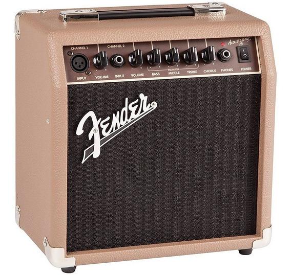 Combo Cubo Amplificador P/ Violão Fender Acoustasonic 15w