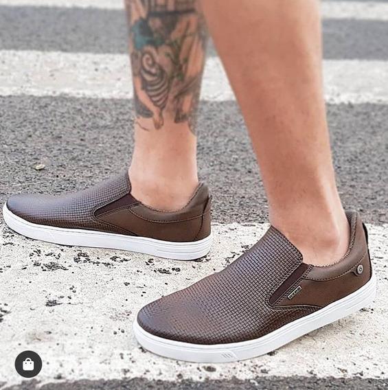 Tênis Sapato Slip On Calce Facil Frete Off Conforto Hype