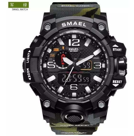 Relógio Camuflado Digital Smael Militar Esportivo 1545