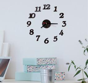 Relógio Parede Decoração Espelhado 3d Sala Num Ordinais 180