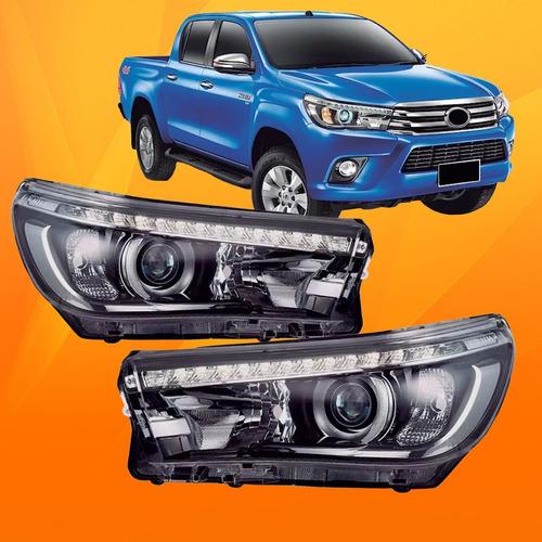 Farol Toyota Hilux Srx 2016 2017 2018 2019 Com Led Novo