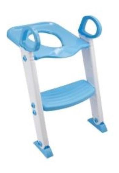 Redutor De Assento Com Escada Infantil Vaso Sanitário Azul