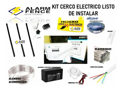 Cerco Electrico Kit 18 Mts 5h Solo Material Listo Instalar