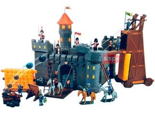 Castillo Medieval 17 Fig Torre Catapulta C/acc 6448 Bigshop