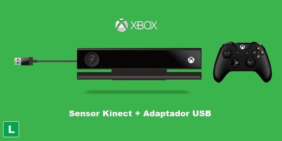 Kinect Xbox One + Adaptador Xbox One S E X + Controle