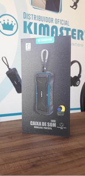 Caixa De Som Bluetooth Kimaster Prata - Resistente À Água