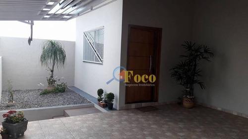 Casa Com 3 Dormitórios À Venda, 171 M² Por R$ 477.000,00 - Villaggio Fosuzzi - Itatiba/sp - Ca0756