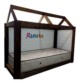 Cama Casita Niños - Modelo Renata