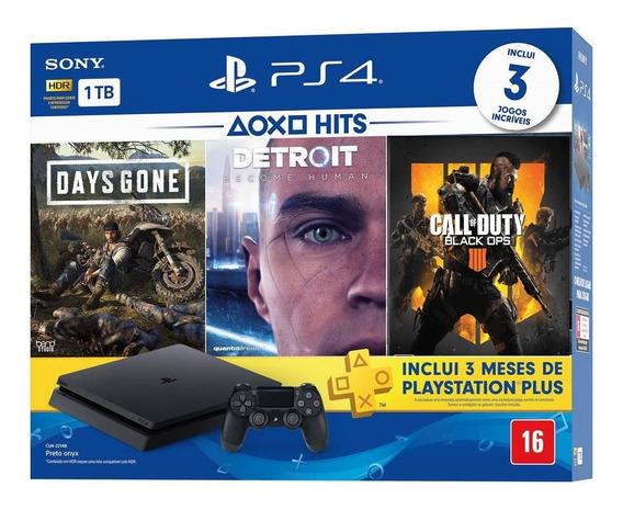Console Playstation 4 Bundle 04 Jogos Lacrado Garantia 1 Ano