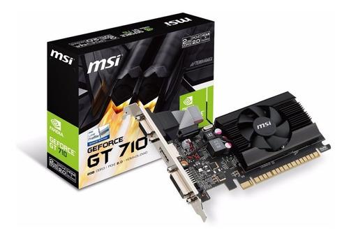 Tarjeta De Video Gt 710 2gb Ddr3 64bits Msi Con Garantía