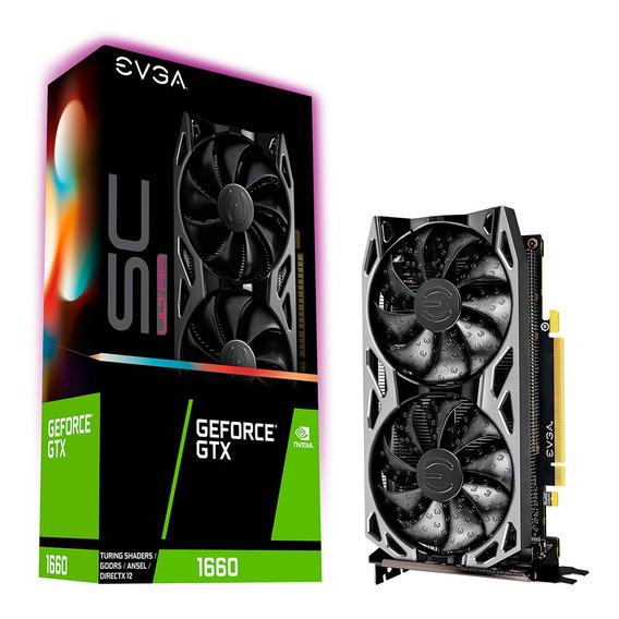 Placa De Video Geforce Gtx 1660 6gb Evga Sc Ultra Mexx 1