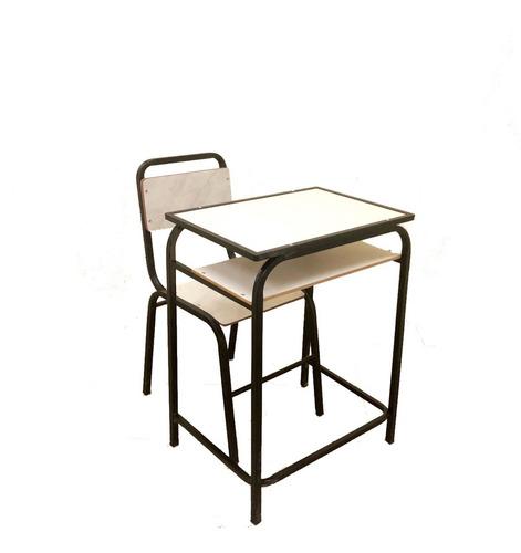 Conjunto Escolar Carteira E Cadeira Lousa Multi Lamin Branca