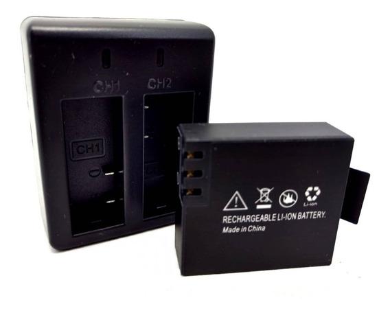 Carregador + Bateria P/ Camera Extra 4k 1080p Hd Qualidade
