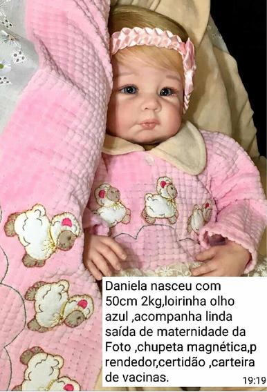 Bebê Reborn Daniela (corpo Tecido)