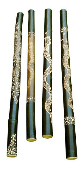 Didgeridoo - Yidaki - Nektar Bambú - Tallado - Texturado