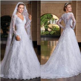 Vestido De Noiva Romântico - Fotos Reais - Sob Medida