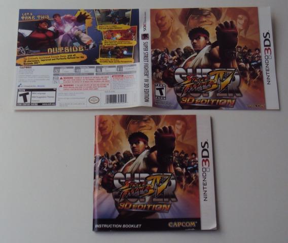 Street Fighter Iv 3d Edition - Manual E Encarte Originais